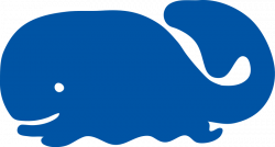 Beluga Whale clipart blue whale