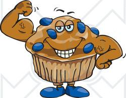Muffin clipart blue berry