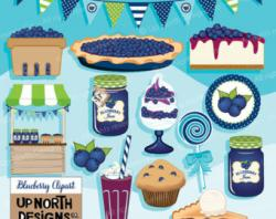 Muffin clipart blueberry pie