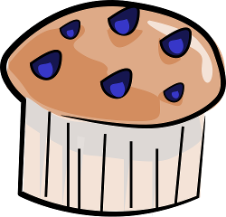 Blueberry Muffin clipart buttered