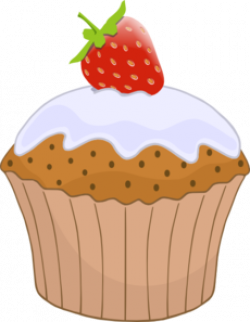 Cupcake clipart strawberry cupcake