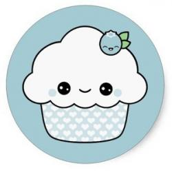 Blueberry Muffin clipart cute smile