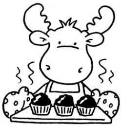 Muffin clipart if you give a moose a muffin
