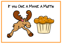 Blueberry Muffin clipart if you give a moose a muffin