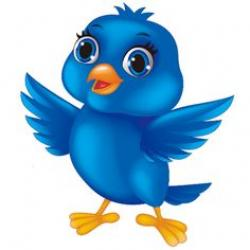 Bluebird clipart happy bird