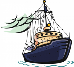 Sailboat clipart fishing boat
