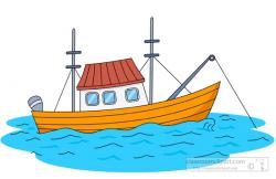 Floating clipart small boat