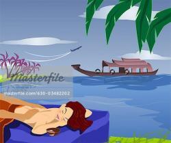 Boat House clipart kerala india