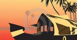 Boat House clipart kerala tourism