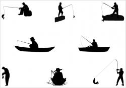 Fisherman clipart guy fishing