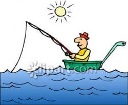 Fisherman clipart family boating