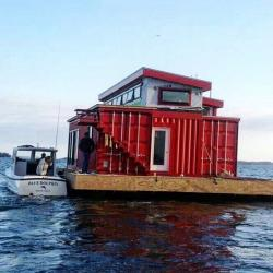 Boat House clipart shipping container