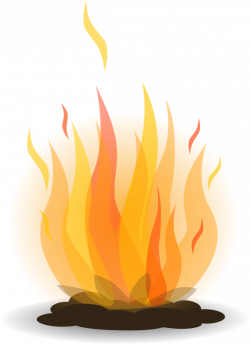 Flames clipart bonfire