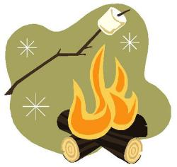 Campire clipart bonfire party