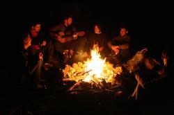 Bonfire clipart family campfire