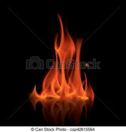 Bonfire clipart red flame