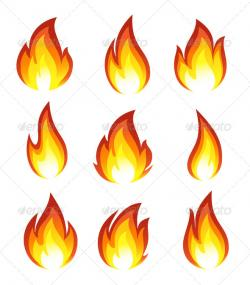 Bonfire clipart tongue fire