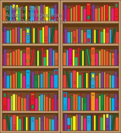 Bookcase clipart many book