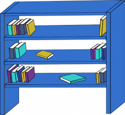Bookcase clipart empty cupboard