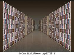 Bookcase clipart librarian