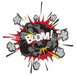 Explosions clipart boom