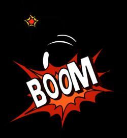 Boom clipart