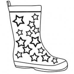 Drawn boots rain
