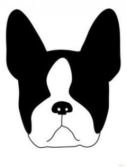 Boston Terrier clipart head