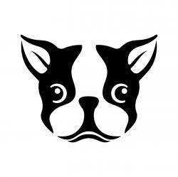 Boston Terrier clipart vector