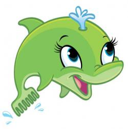 Dolphines clipart cartoon
