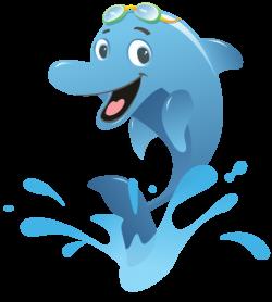 Dolphines clipart splash