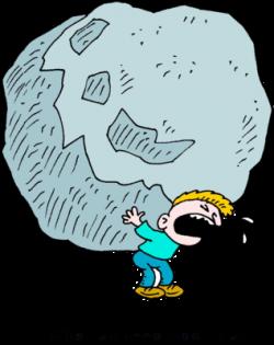 Boulders clipart burden