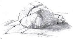 Drawn rock
