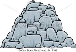 Boulders clipart big rock