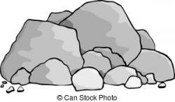 Boulder clipart rock pile