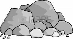 Boulders clipart gravel pile