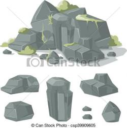 Boulder clipart rough object
