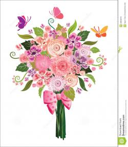 Floral clipart flower bouquet
