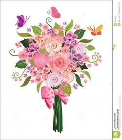 Floral clipart flower bouquet