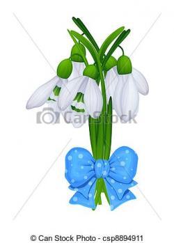 Snowdrop clipart bouquet