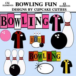 Bowling clipart 50's