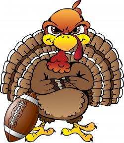 Football clipart thanksgiving turkey