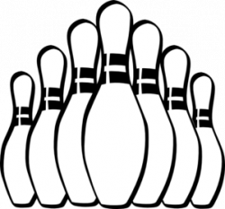 Bowling clipart vector