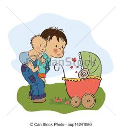 Child clipart brother