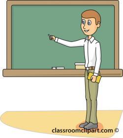 Blackboard clipart professor