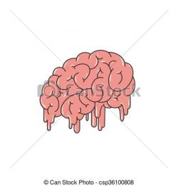 Brains clipart hand drawn