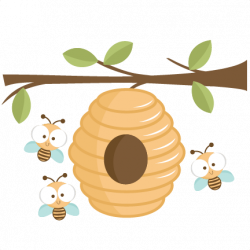 Bee Hive clipart cute