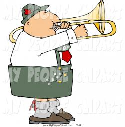 Brass clipart trombone player