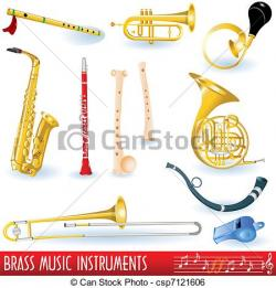 Brass clipart wind instrument