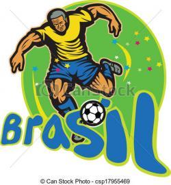 Football clipart brazil